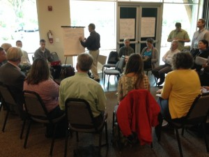 Another Open space session at the conference which was forming working groups for post conference connection