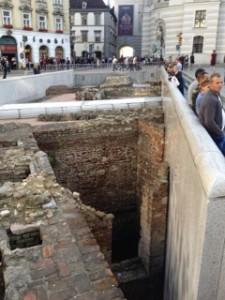 Roman walls under the main square, Vienna