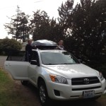 Loading the roof box