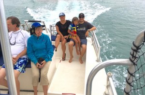 Part of our family on the Napali coast snorkeling tour
